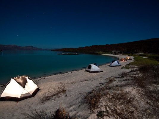 baja camping under the stars on remote beaches
