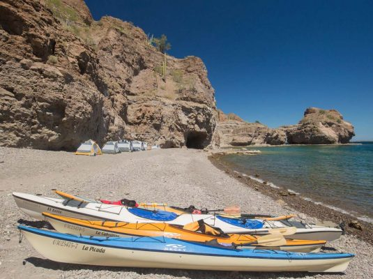 kayak camping the beaches of baja