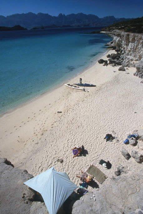 explore beautiful beaches kayaking the sea of cortez