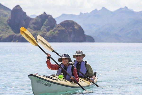 kayaking the coast of baja